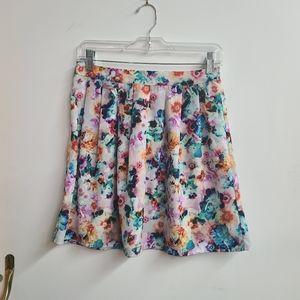 Hinge Multi Color Floral Skirt